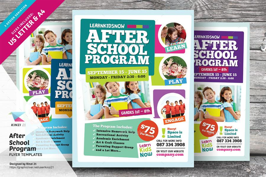 Free After School Flyer Templates