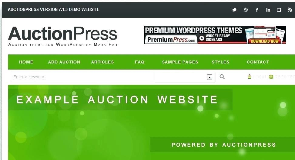 Free Auction Website Template Wordpress
