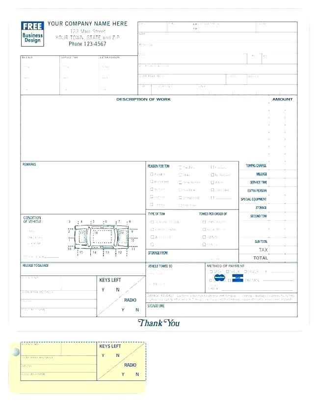 Free Auto Mechanic Work Order Template