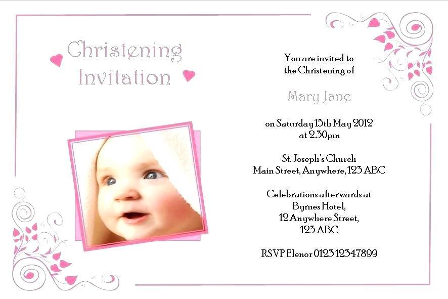 Free Baby Girl Christening Invitation Templates Templates