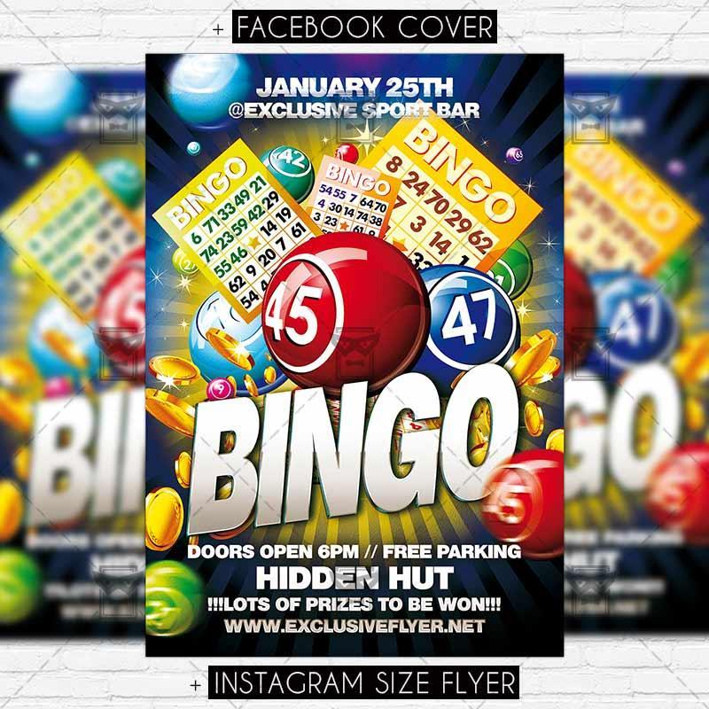 Free Bingo Flyer Template Printable