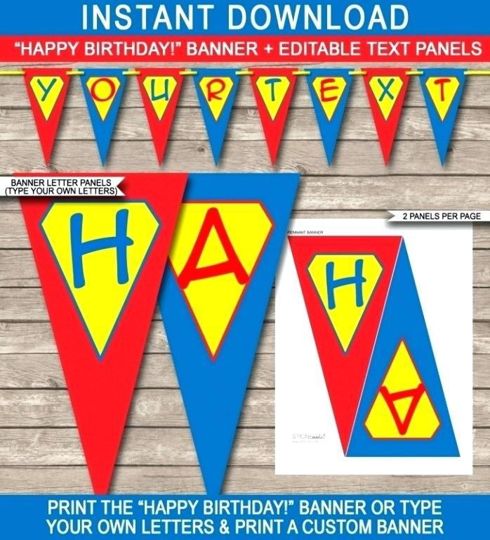 Free Birthday Banner Templates Download
