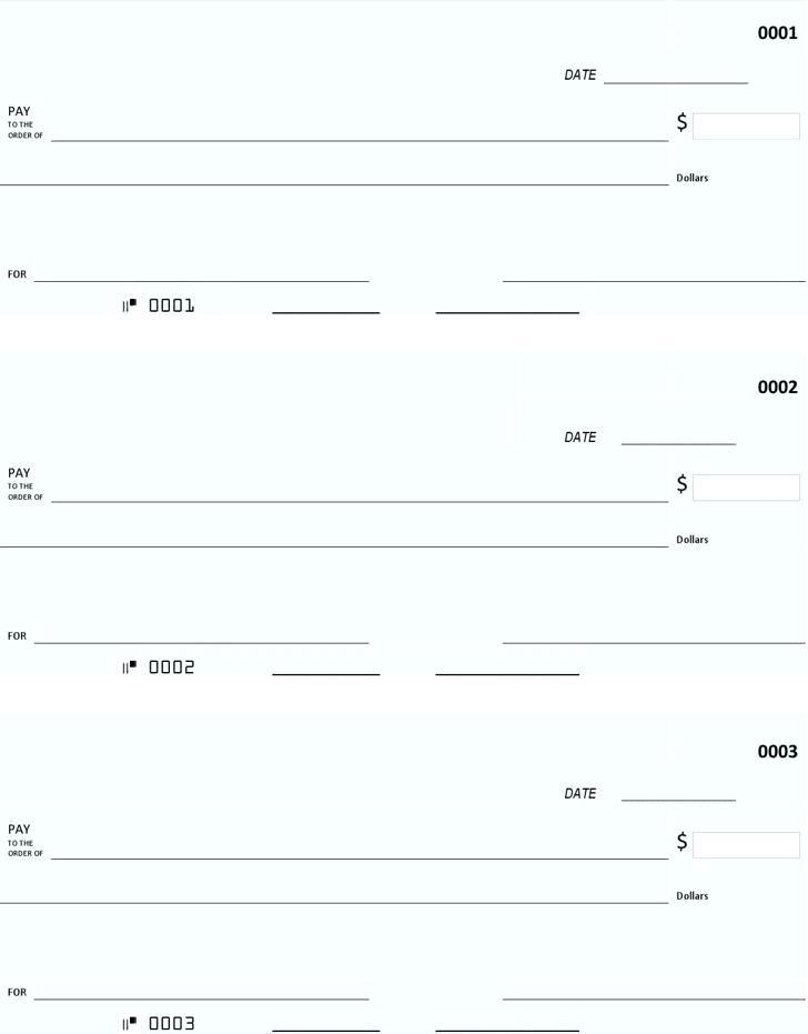 Free Blank Check Template Editable