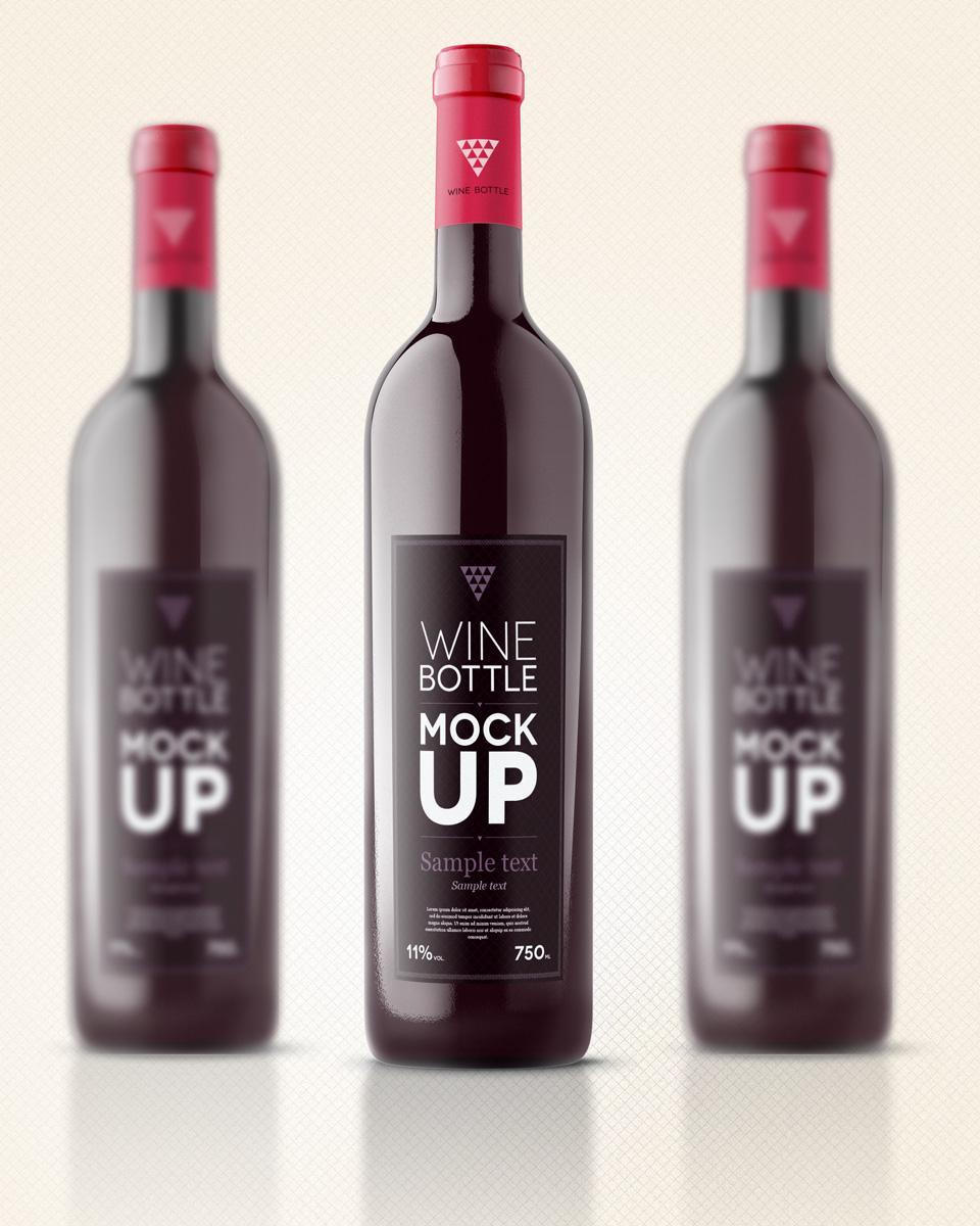 Free Blank Wine Bottle Label Template