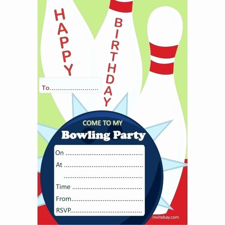 Free Bowling Invitation Template