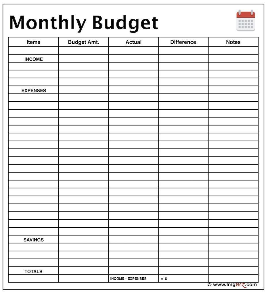 Free Budget Planner Template Printable
