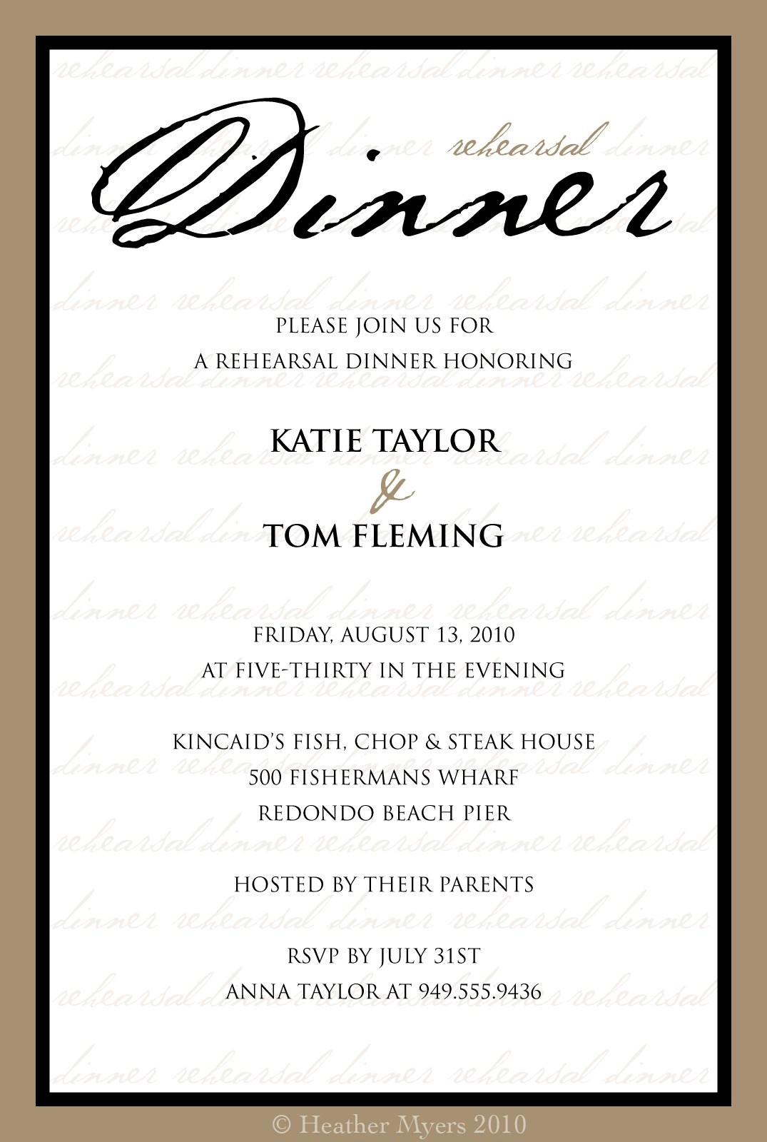 Free Business Dinner Invitation Templates