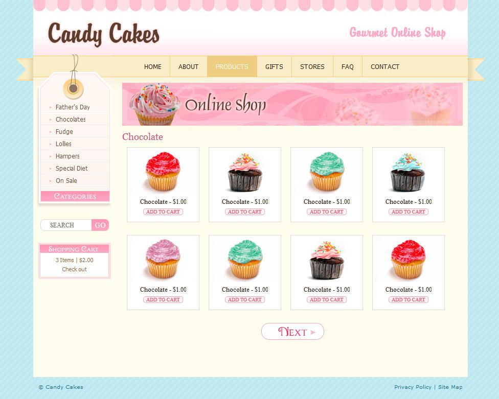 Free Cake Website Template Download