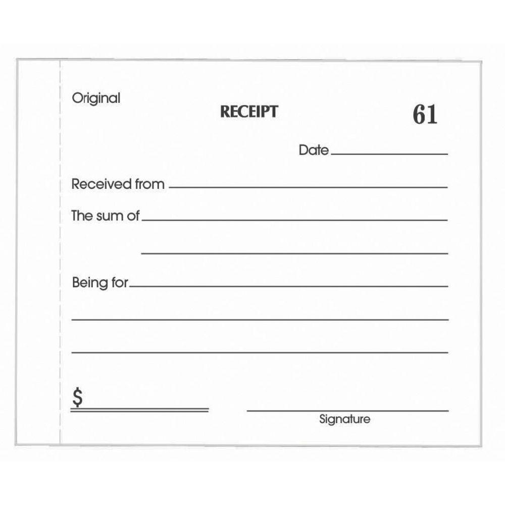 Free Cash Receipt Sample