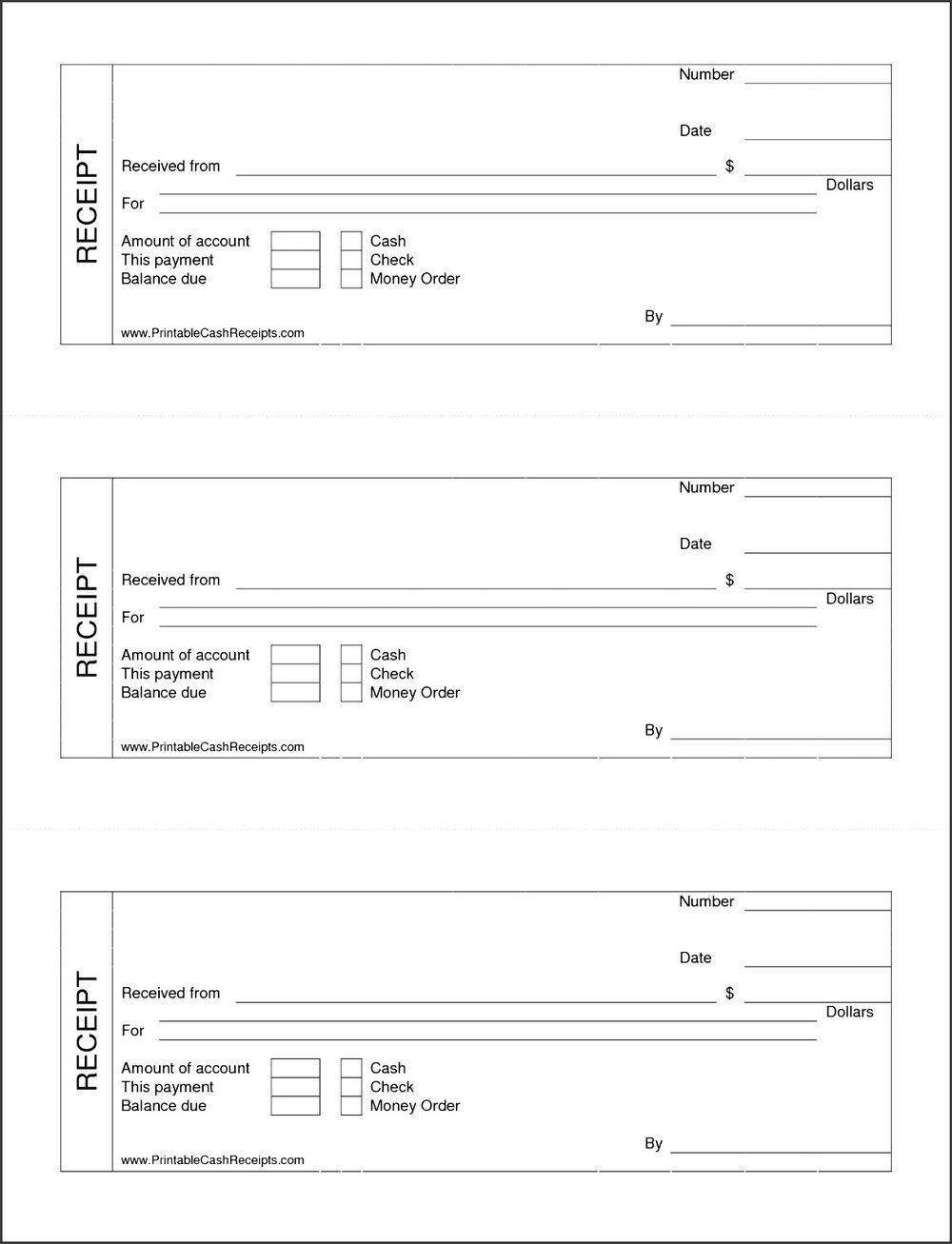 Free Cash Receipt Template Download