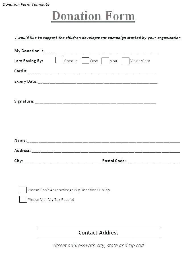 Free Church Donation Receipt Template