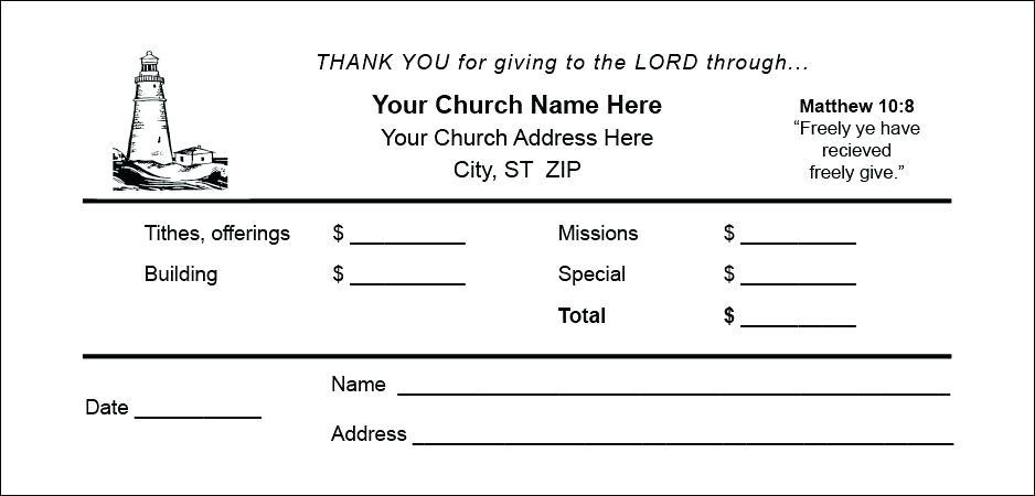 Free Church Offering Envelope Template