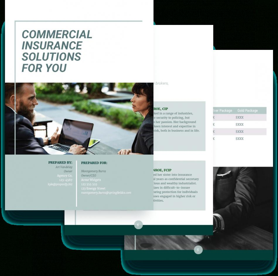 Free Commercial Insurance Proposal Template