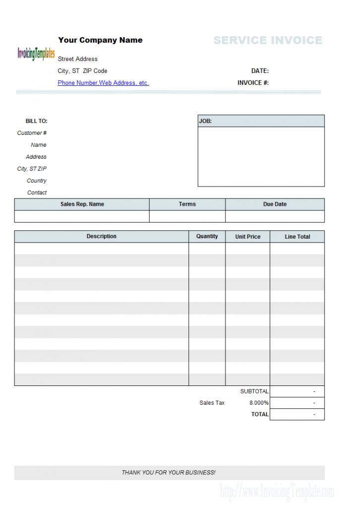 Free Contract Labor Invoice Template