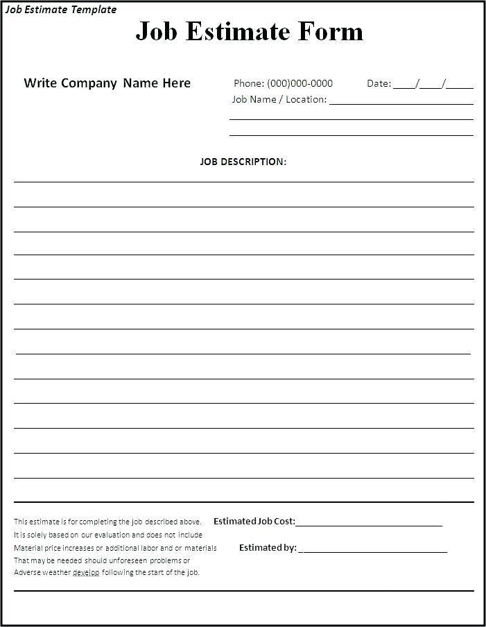 Free Contractor Bid Proposal Forms