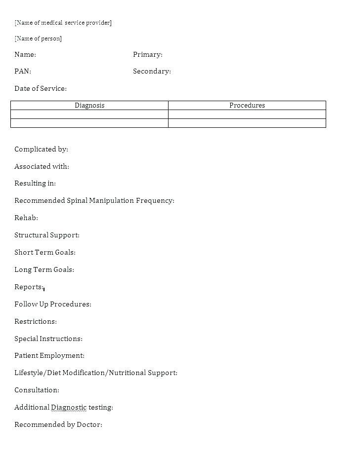 Free Counseling Progress Notes Template