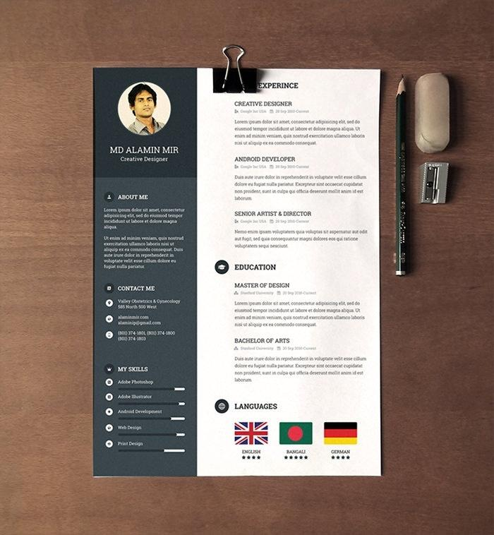 Free Creative Resume Templates Microsoft Word 2017
