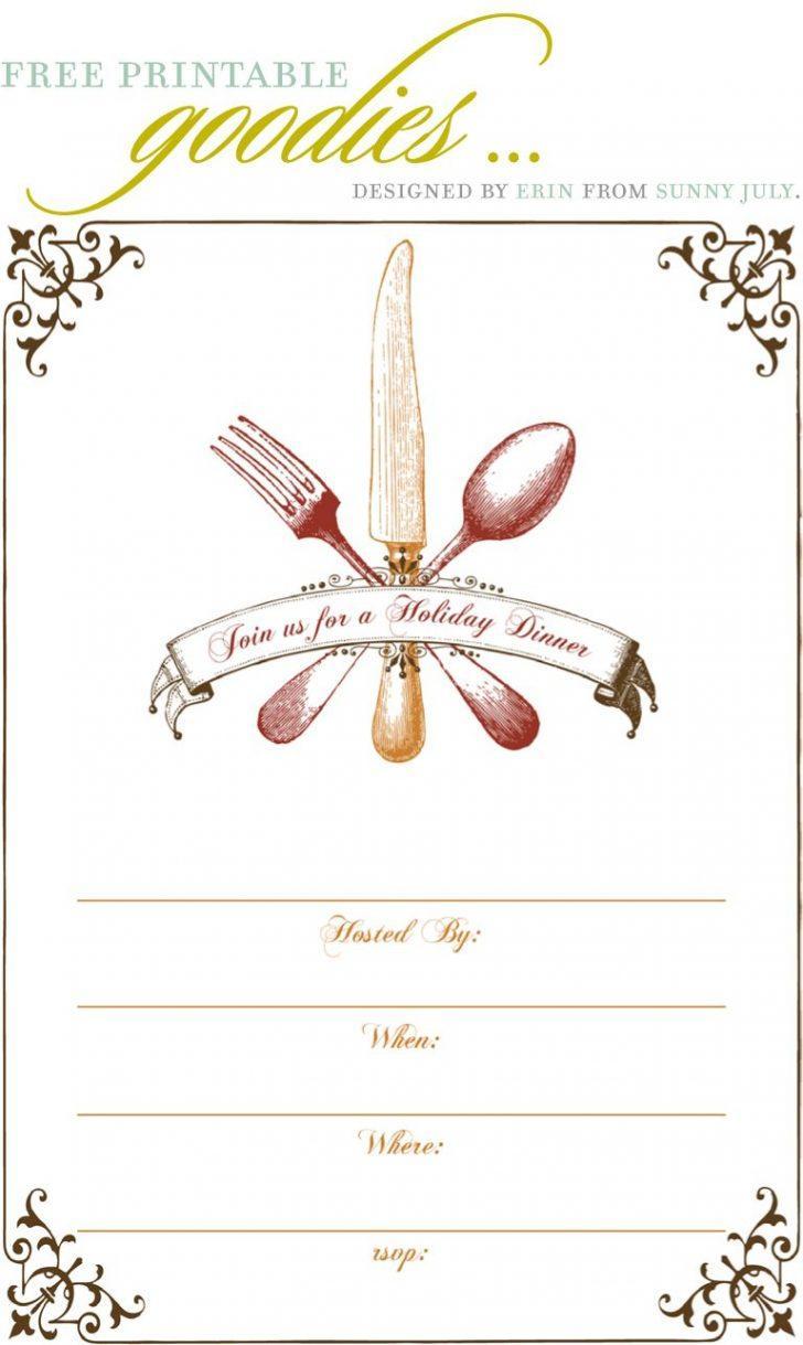 Free Dinner Invitation Templates Printable