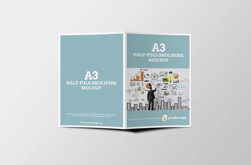 Free Download Half Fold Brochure Templates