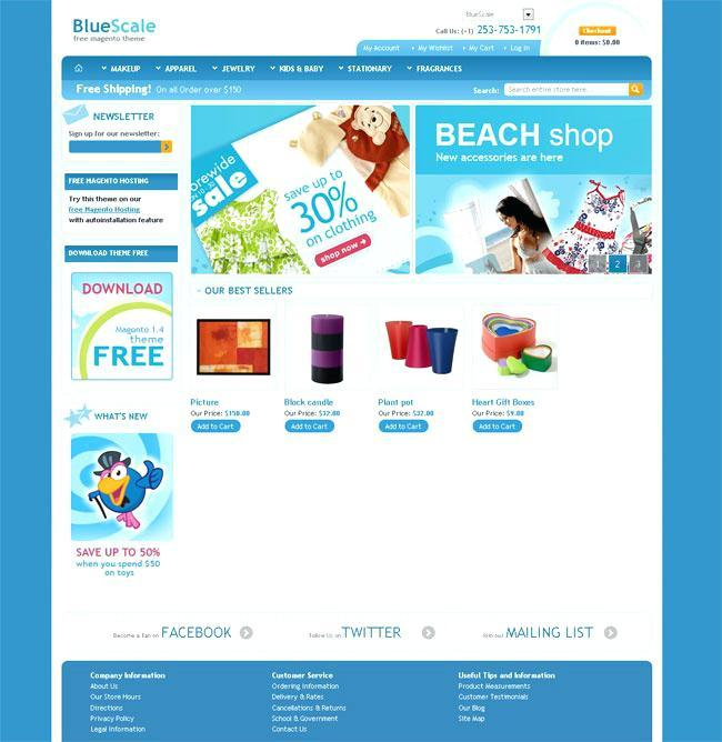 Free Download Magento Ecommerce Templates