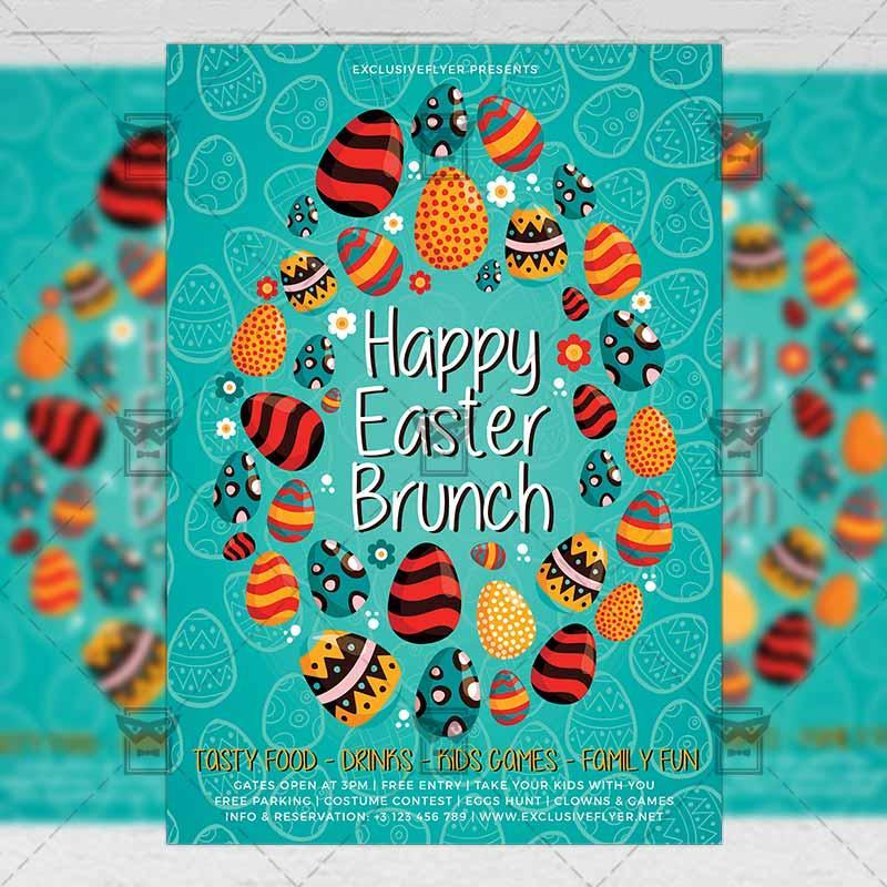 Free Easter Brunch Flyer Template