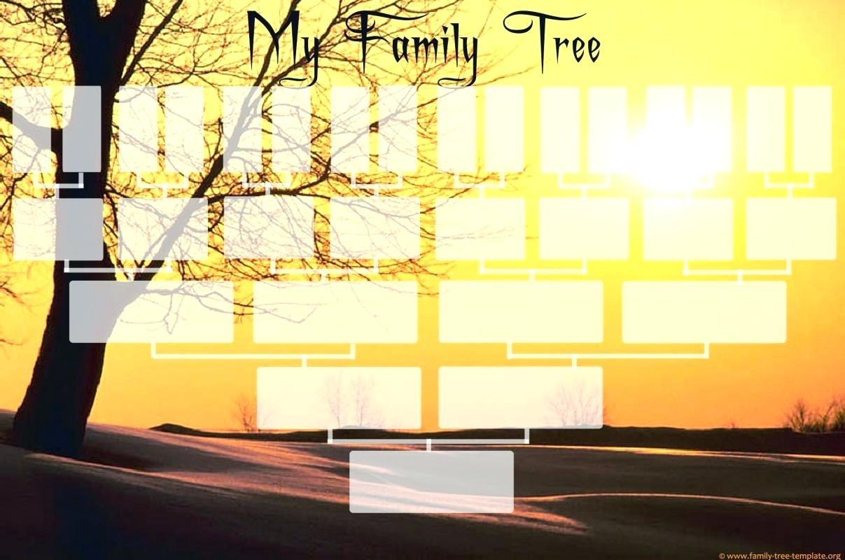 Free Editable 6 Generation Family Tree Template