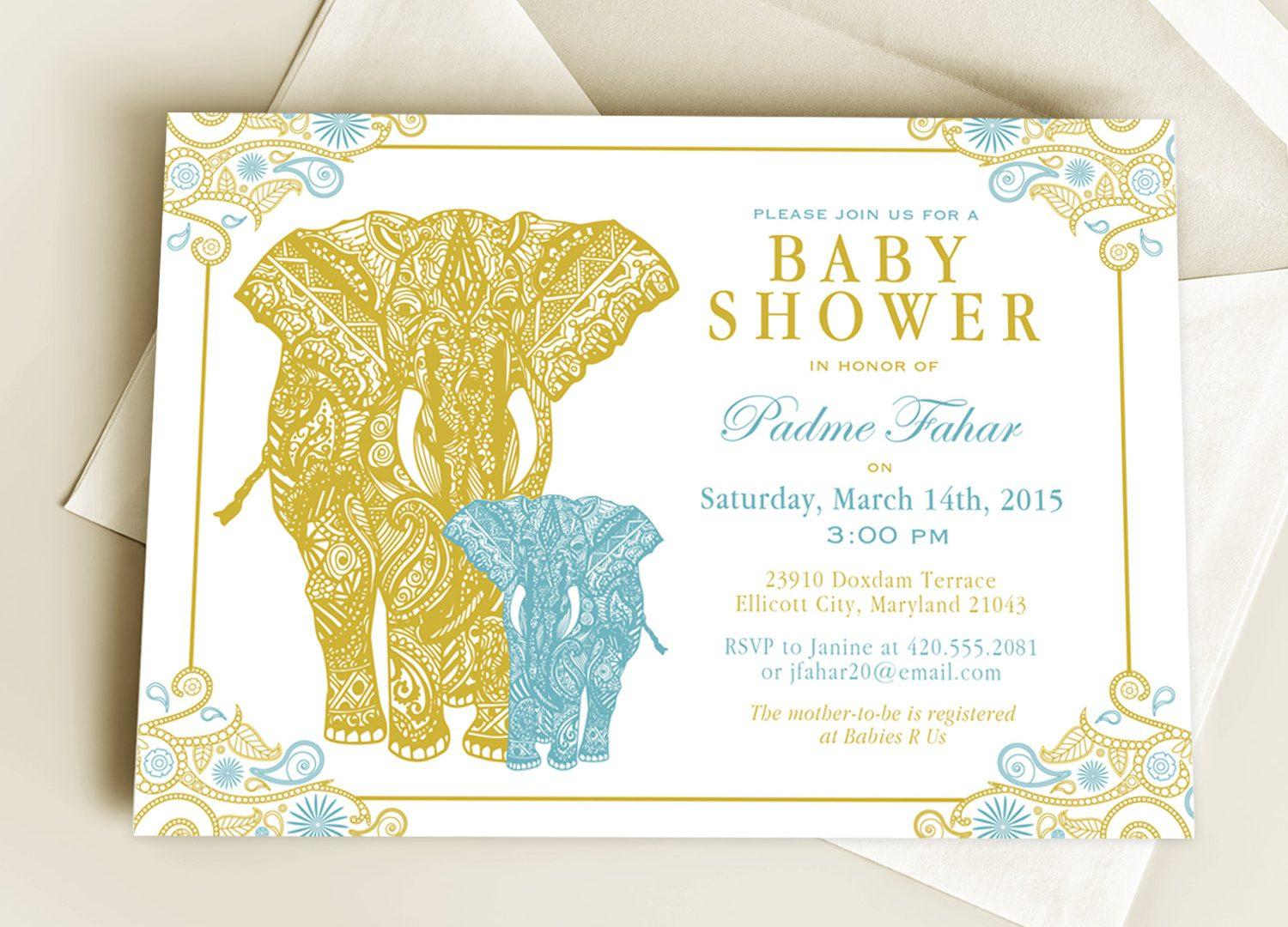 Baby Shower Invitation Templates India - Templates #45282