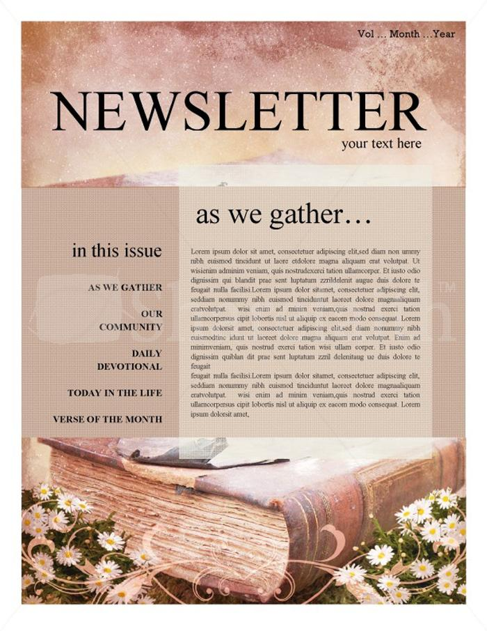 Free Editable Church Newsletter Templates