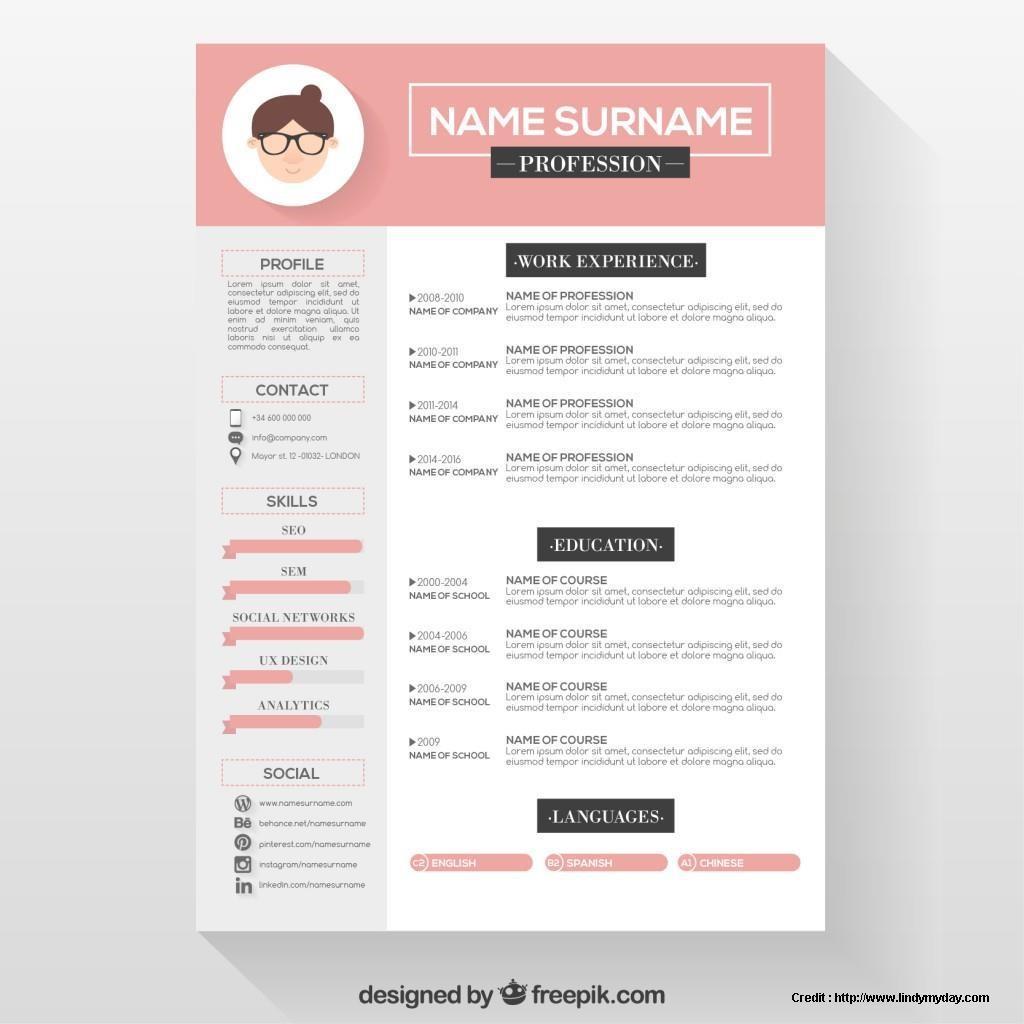 Free Editable Creative Resume Templates Word