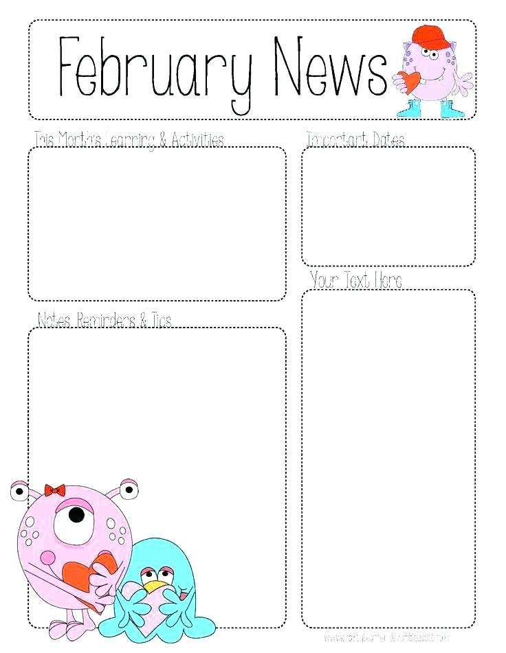 Free Editable February Newsletter Templates