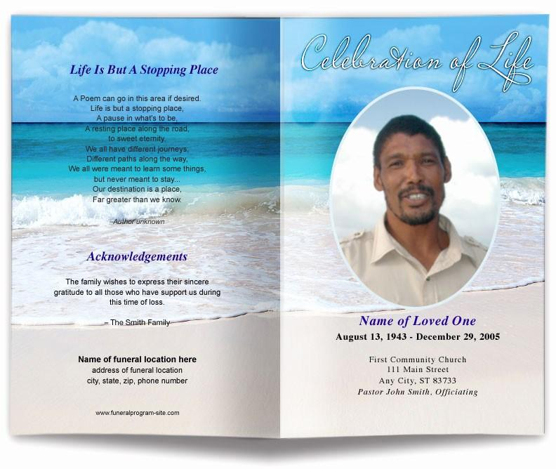 Free Editable Funeral Program Template Mac