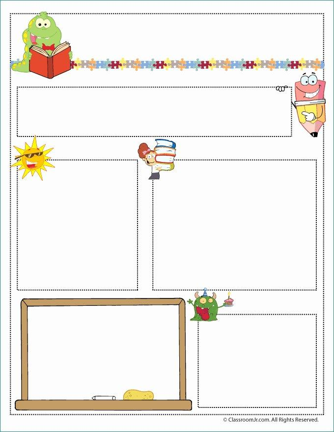 Free Editable Monthly Newsletter Templates For Teachers