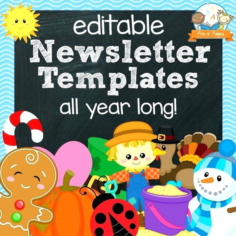 Free Editable Weekly Newsletter Templates