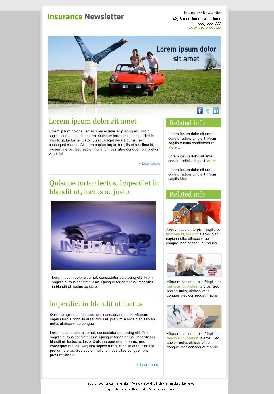 Free Email Newsletter Templates Html Code