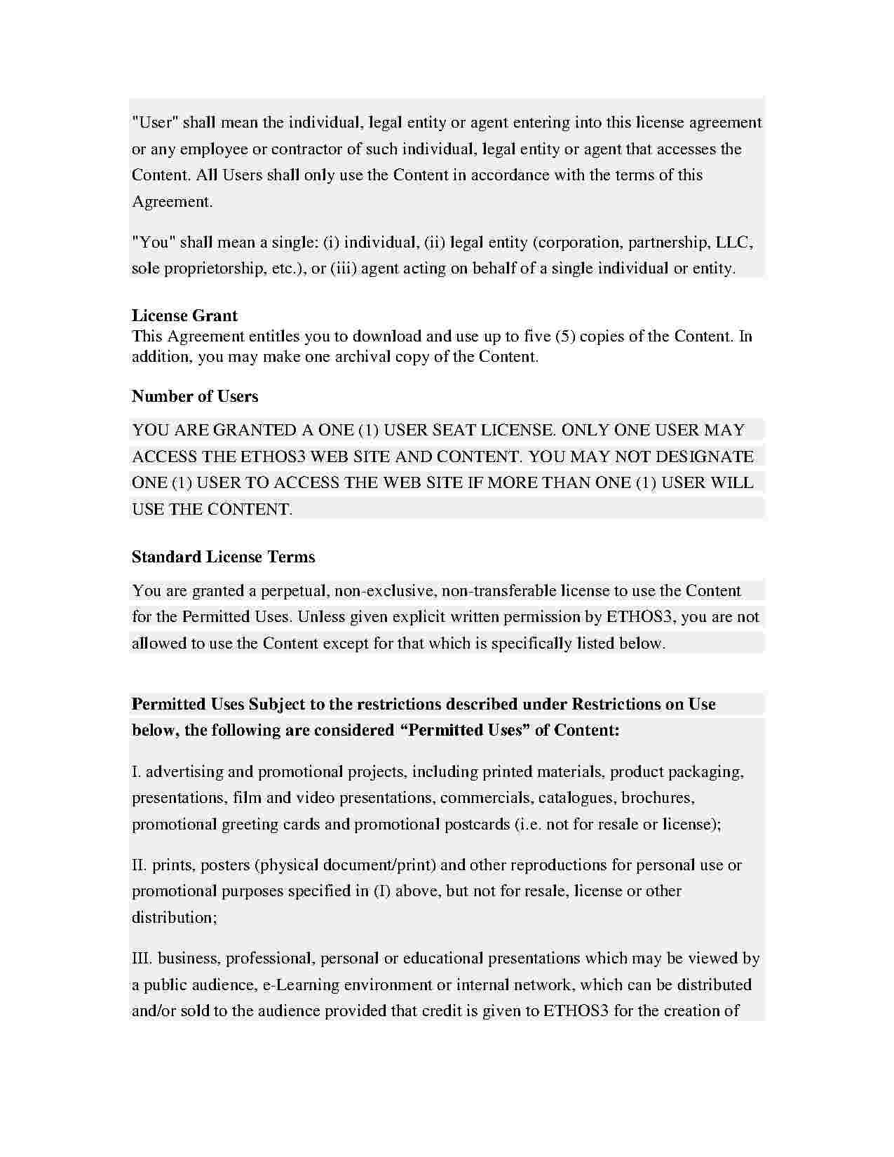 Free End User License Agreement Template