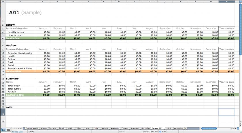 Free Excel Bookkeeping Templates Uk