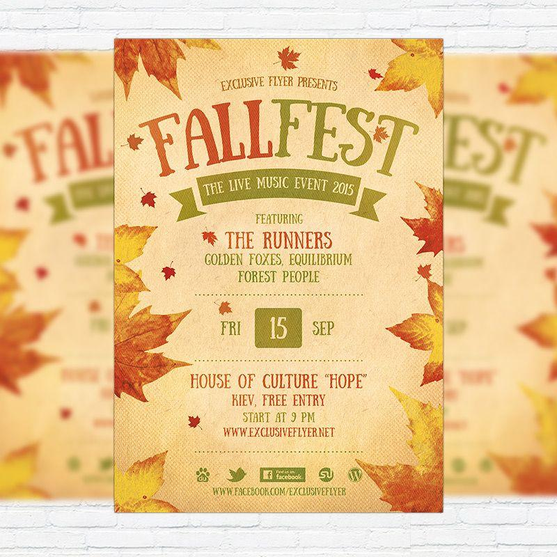 Free Fall Flyer Templates For Word