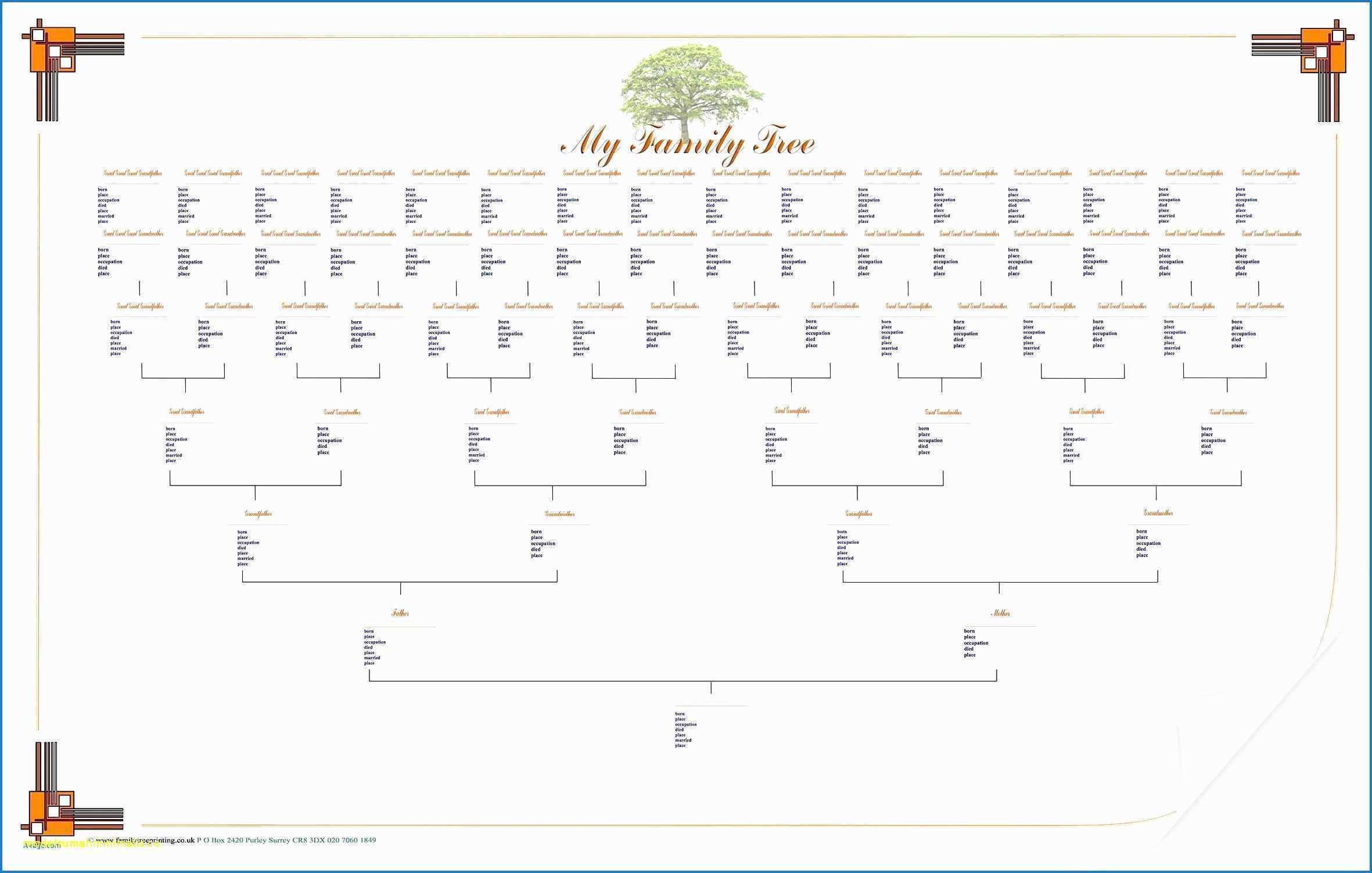 Free Family Tree Template Editable