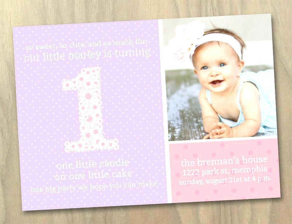 Free First Birthday Photo Invitation Templates