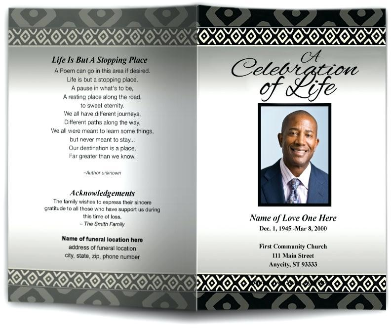 Free Funeral Programs Template South Africa