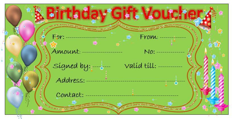 Free Gift Voucher Templates Word