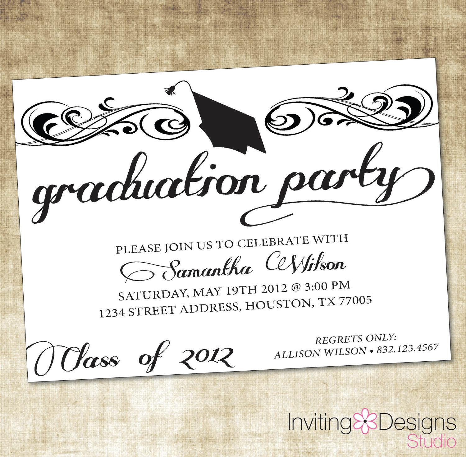 Free Graduation Dinner Invitation Template