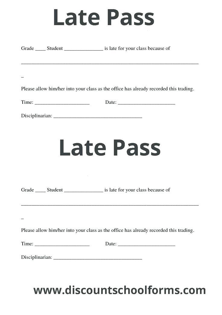 Free Hall Pass Templates For Teachers