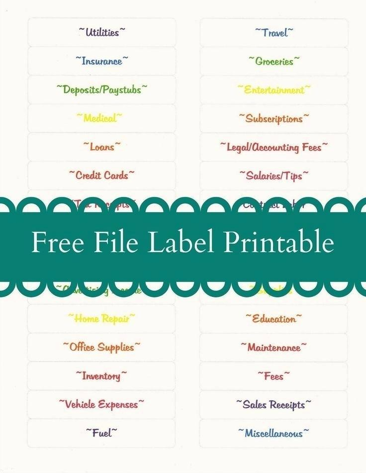 Free Hanging File Folder Label Template Microsoft