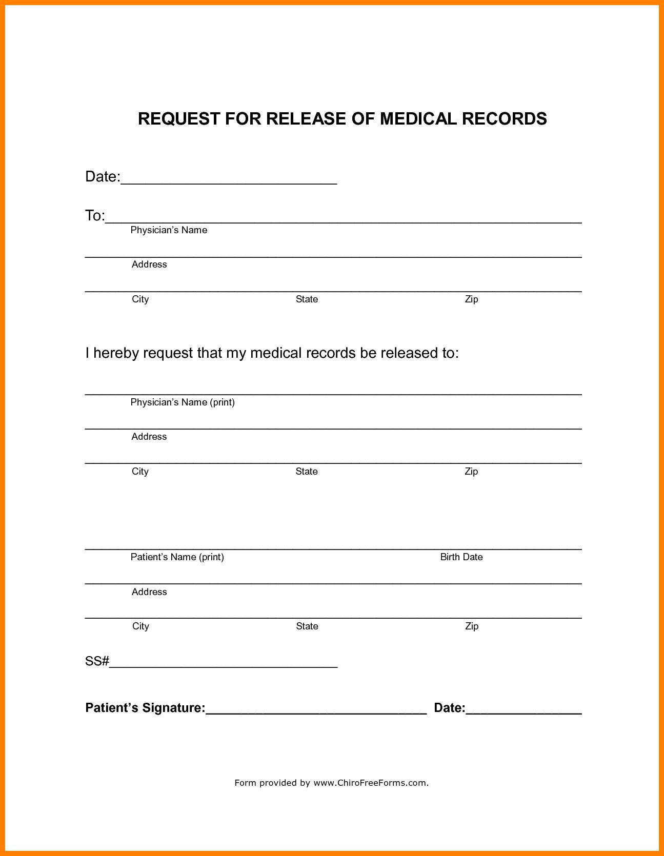 Free Hipaa Form Template