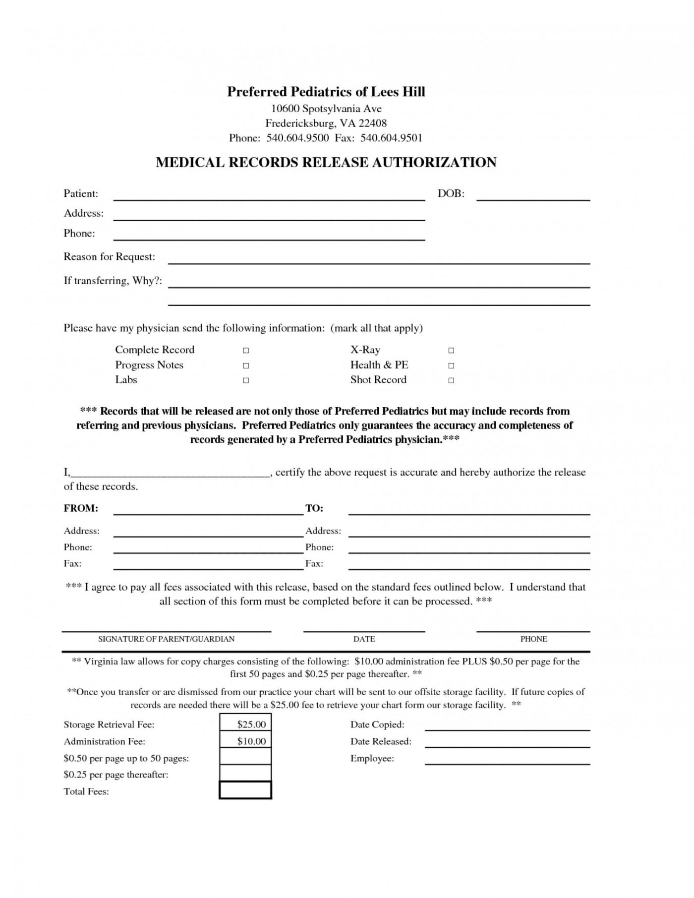 Free Hipaa Release Form Template