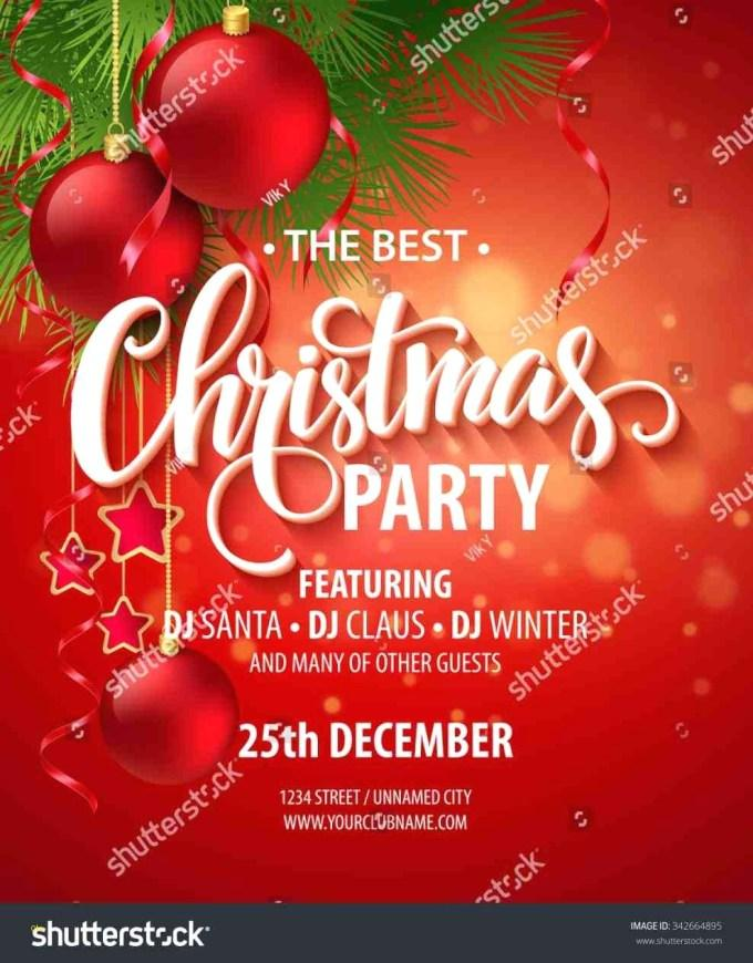 Free Holiday Party Flyer Template Word