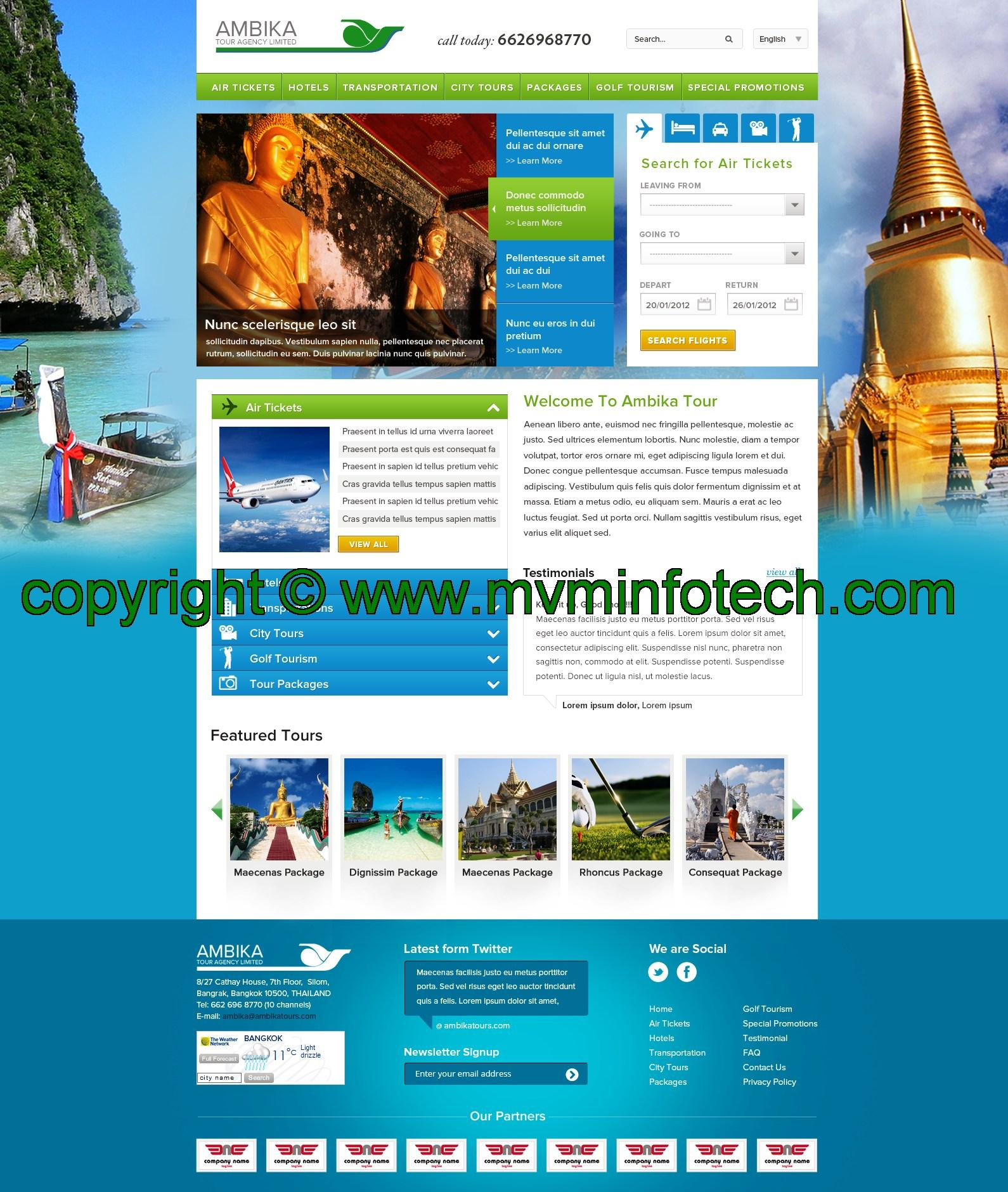 Free Html Website Templates For Travel Agency