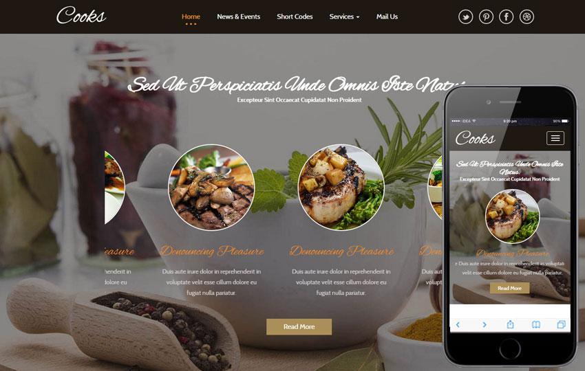 Free Html5 Responsive Restaurant Templates
