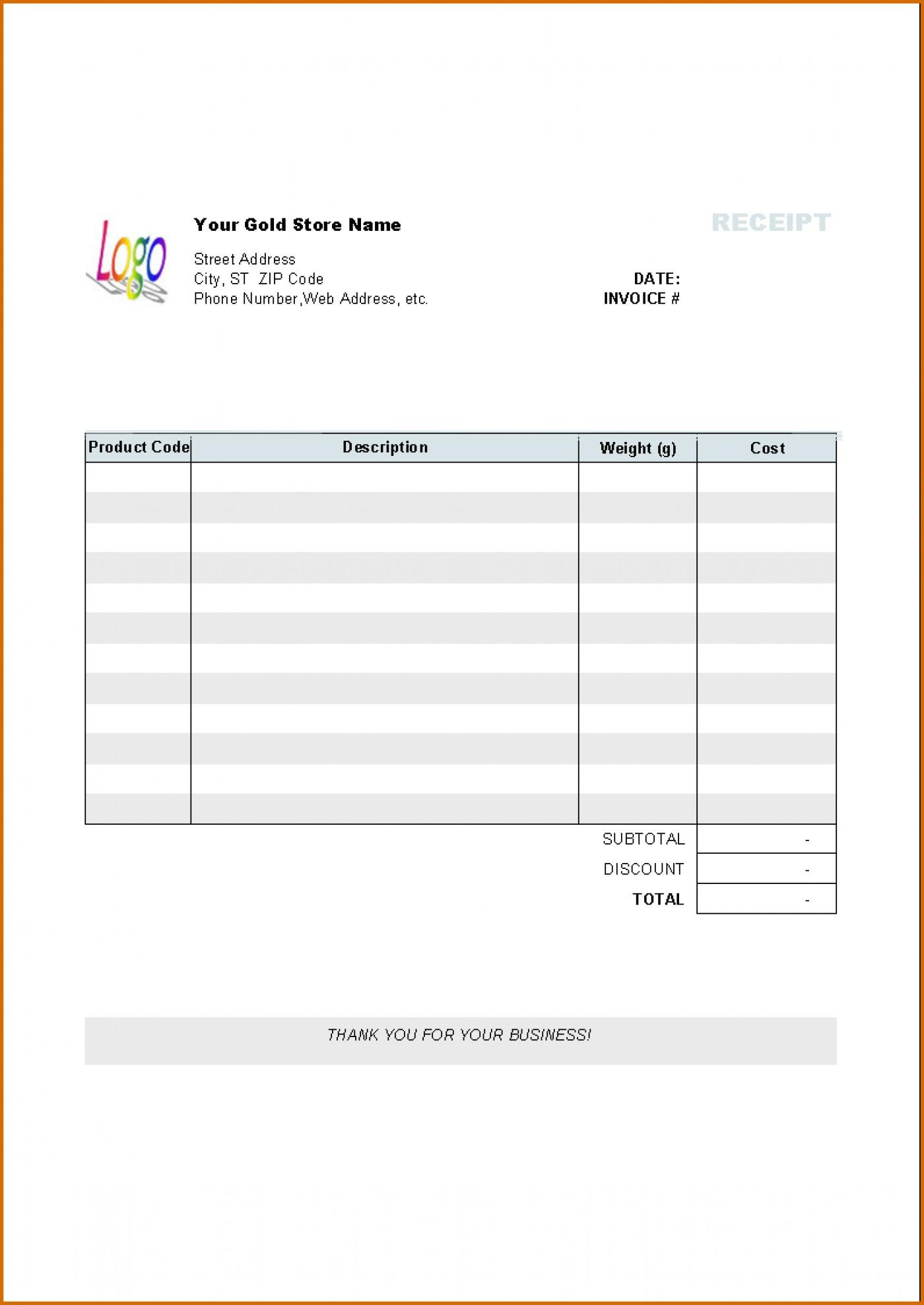 Free Invoice Template For Pages Ipad